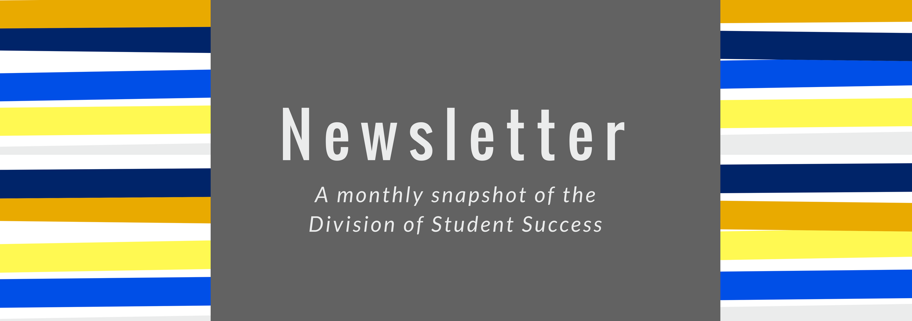 newsletter banner a monthly snapshot of the Division of Student Success