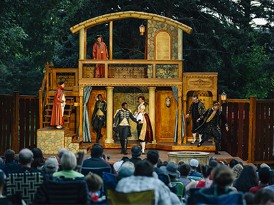 Shakespeare's Othello being performed outdoors