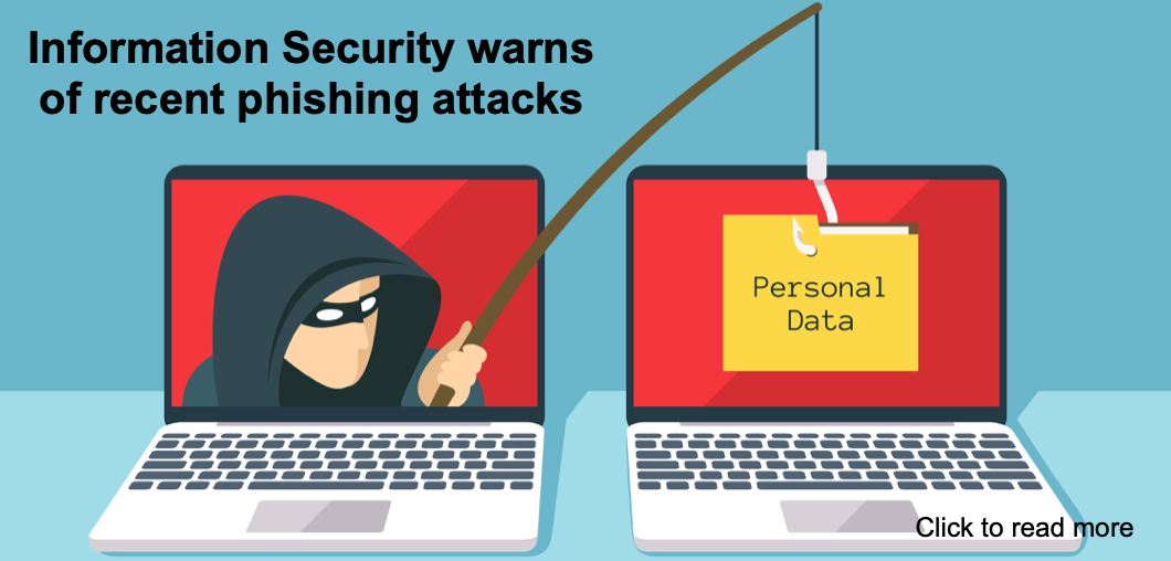 announcemnt of a phishing attack , two computers, one a hacker with a fishing pole stealing from the other computer