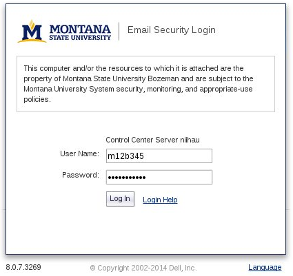 Picture of sonicwall login page