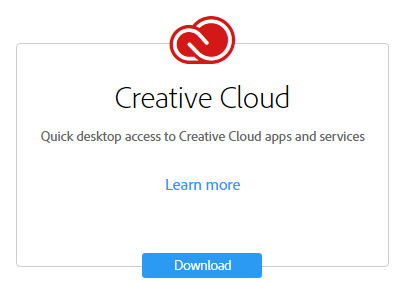 Image showing red creative cloud logo