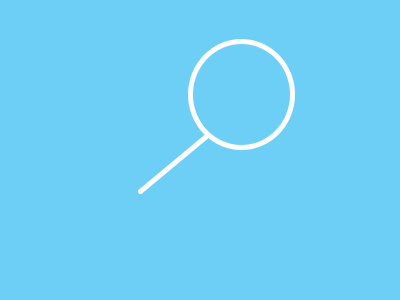 turquoise magnifying glass icon