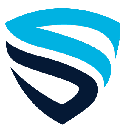 Spirion shield logo image, a blue and black shield
