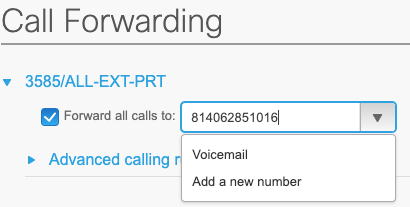 call forward extension image
