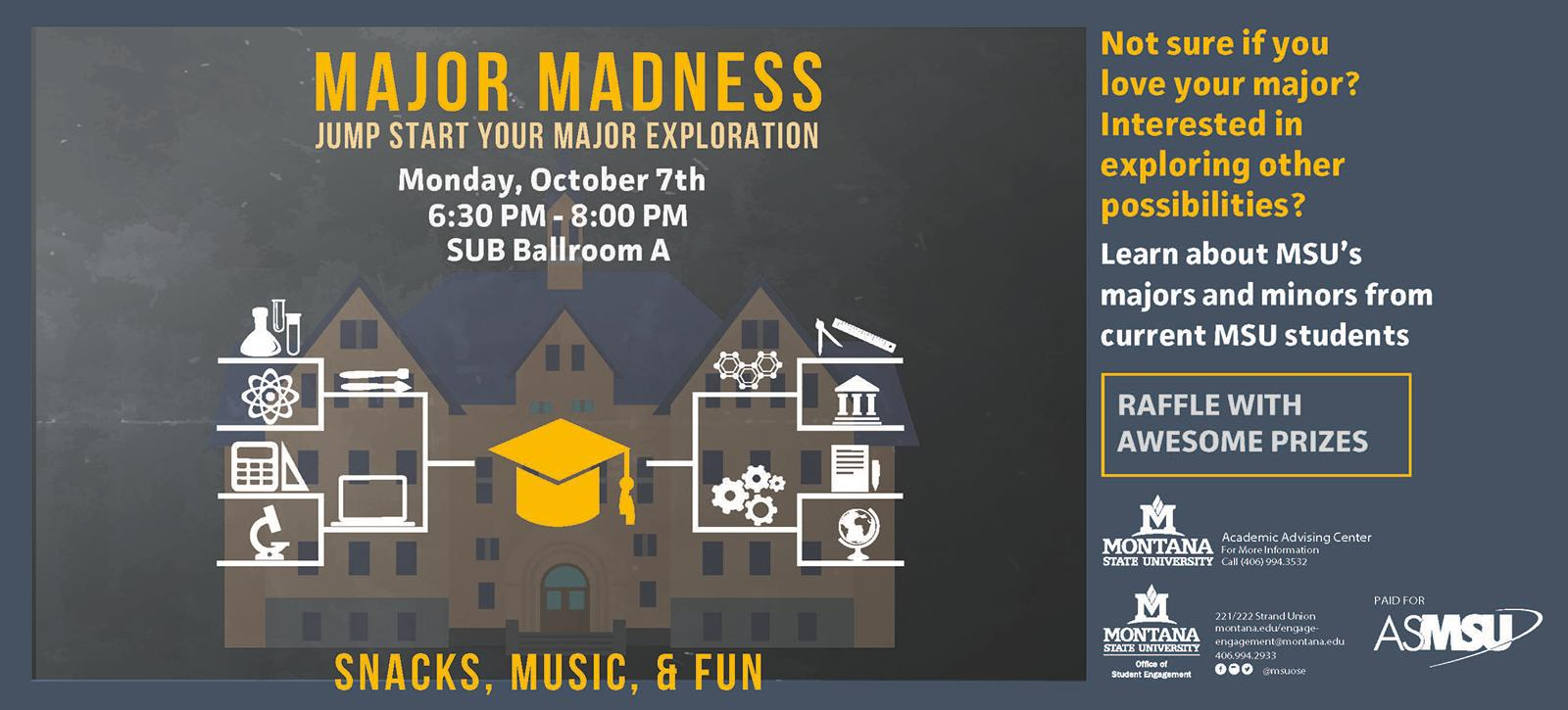 Poster to advertise Major Madness