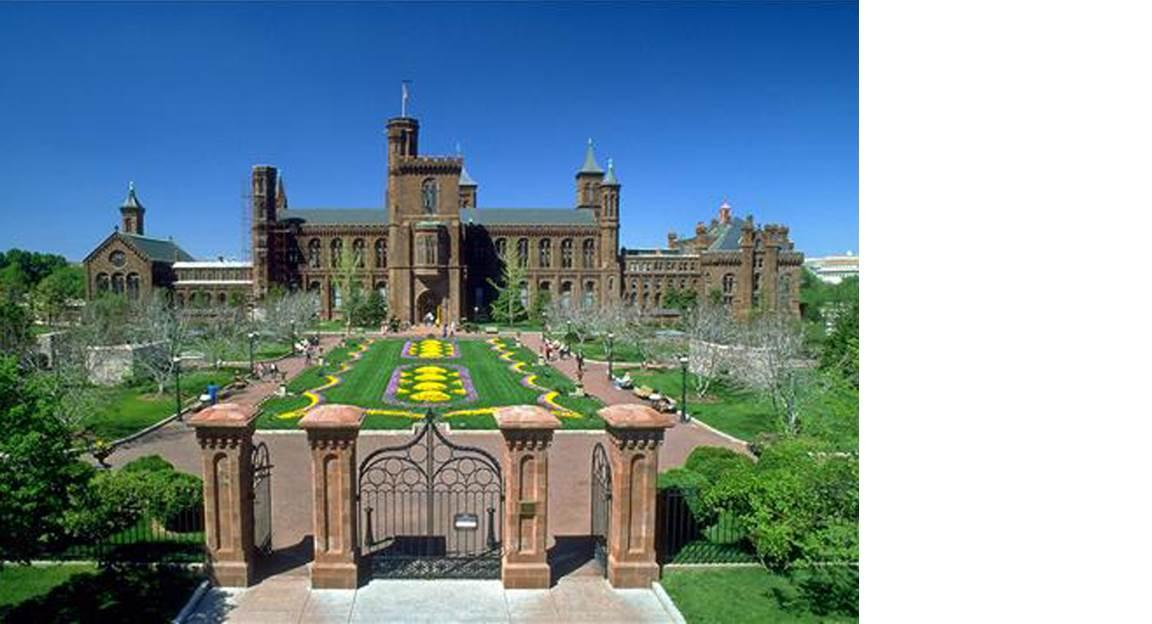 Photo of Smithsonian Building.