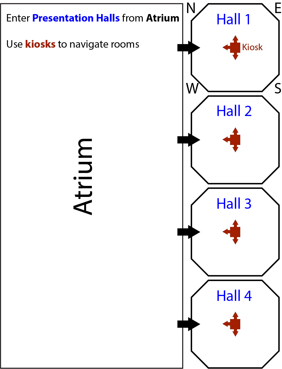 Map of poster halls for session 1