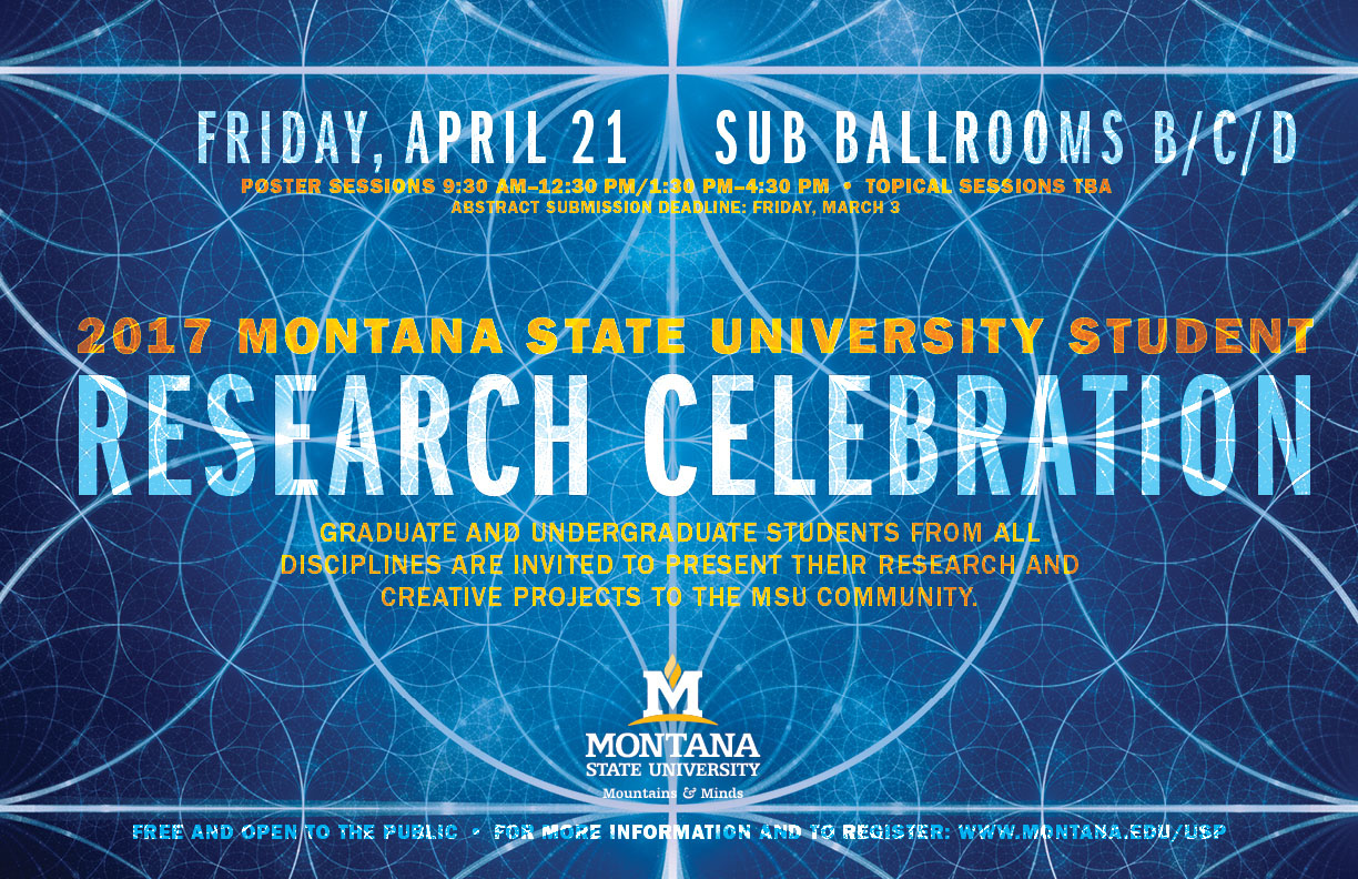 2017 Research Celebration Poster, kaleidoscope design