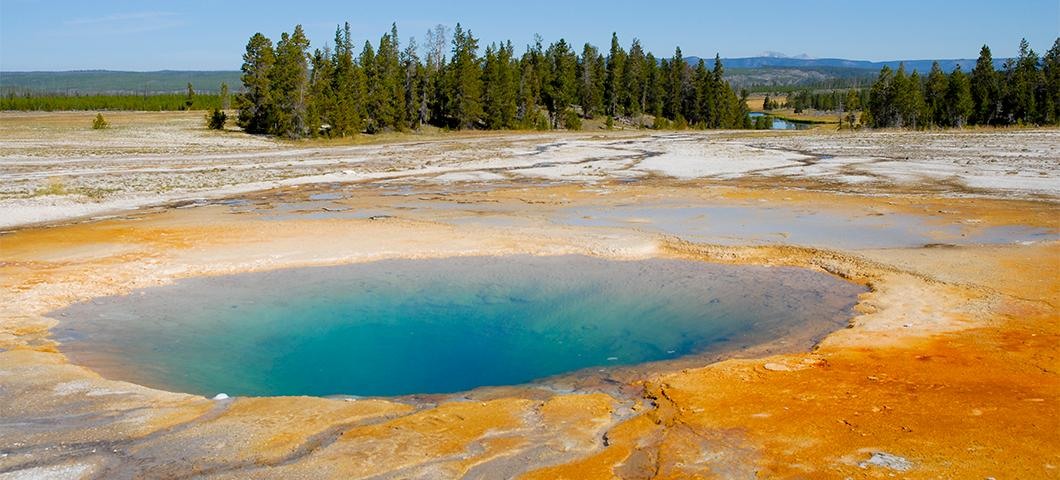 A hot pool in Yellowstone