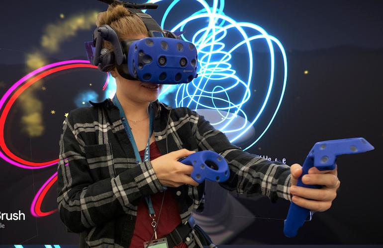 Titlbrush application being used in VR