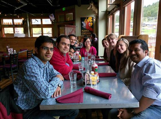 Dinner at Lift, Intermountain Conference Jackson Hole, Wyoming, May 2015