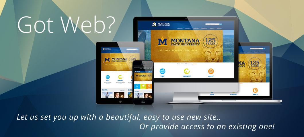 websites - let us set up a website for you or help you edit an existing site
