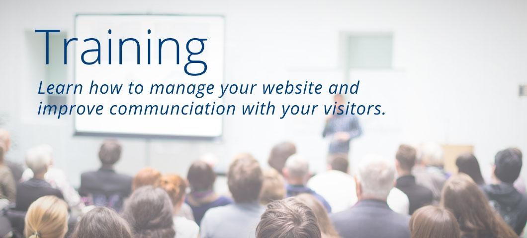 Training - learn how to manage your website