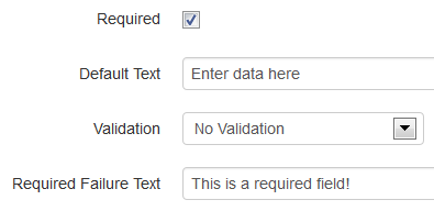 Required Checkbox and Required Failure Text