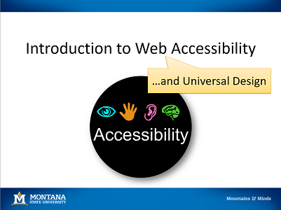 web accessibility and universal design logo