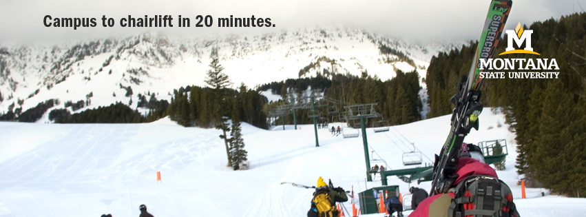 Campus to chairlift in 20 minutes.