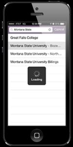 MSU App - choose Montana State University