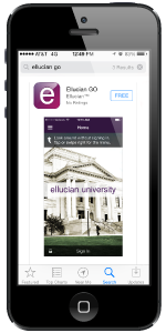 MSU app - Ellucian on iPhone screen