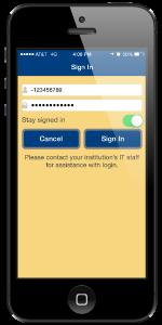 MSU app - sign in