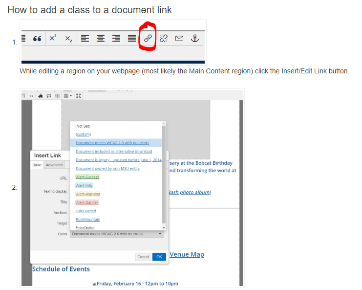 How to add a class to a document image instructions