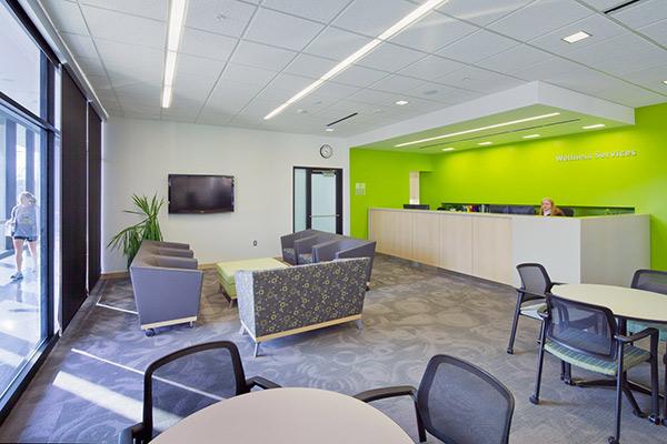 A wellness center waiting room