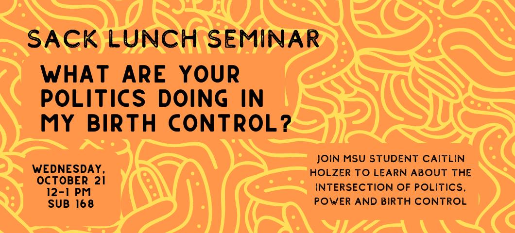 Flyer for Sack Lunch Seminar