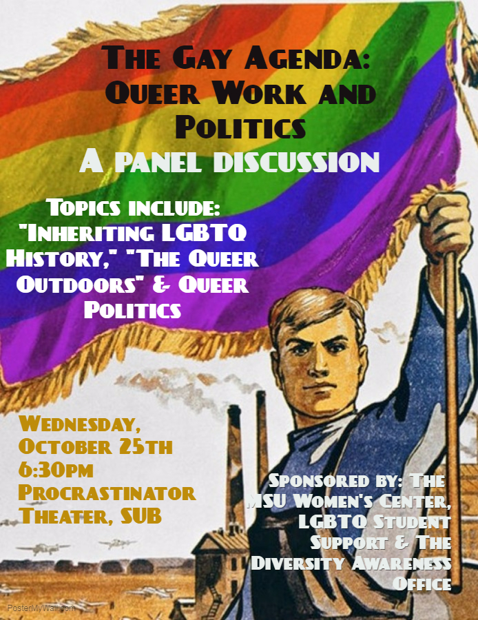 The Gay Agenda Event Poster