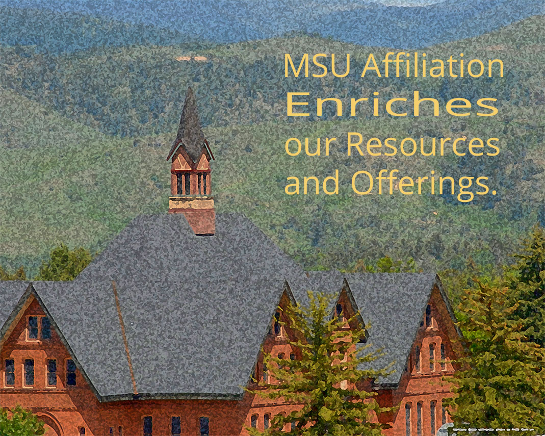 MSU Affiliation enriches our resources and offerings.