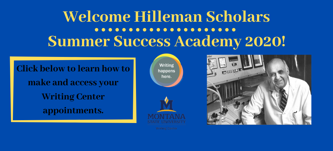 Hilleman Scholars Summer Success Academy 2020