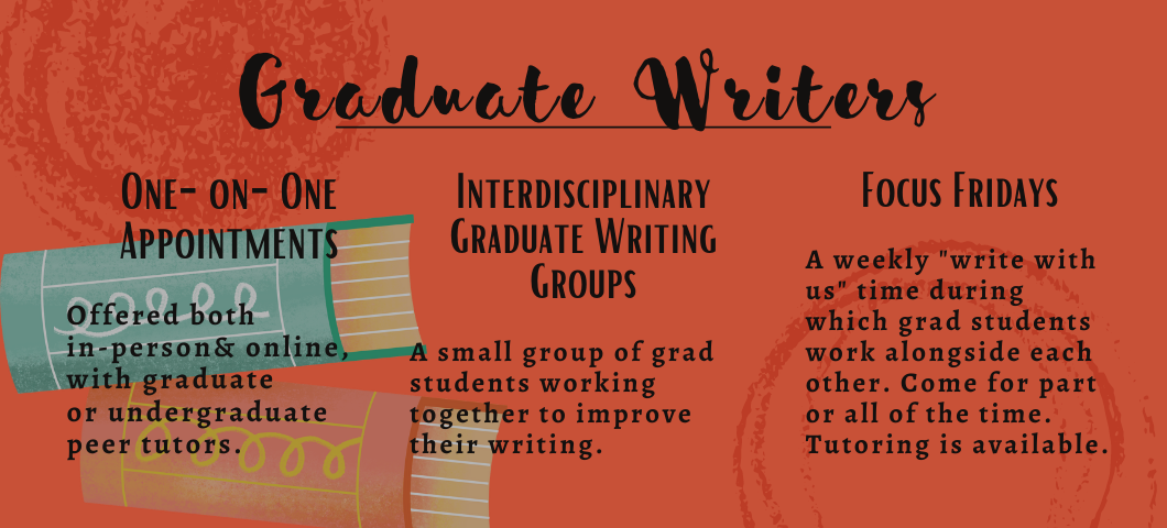 Click here to learn more about how we support graduate student writers.