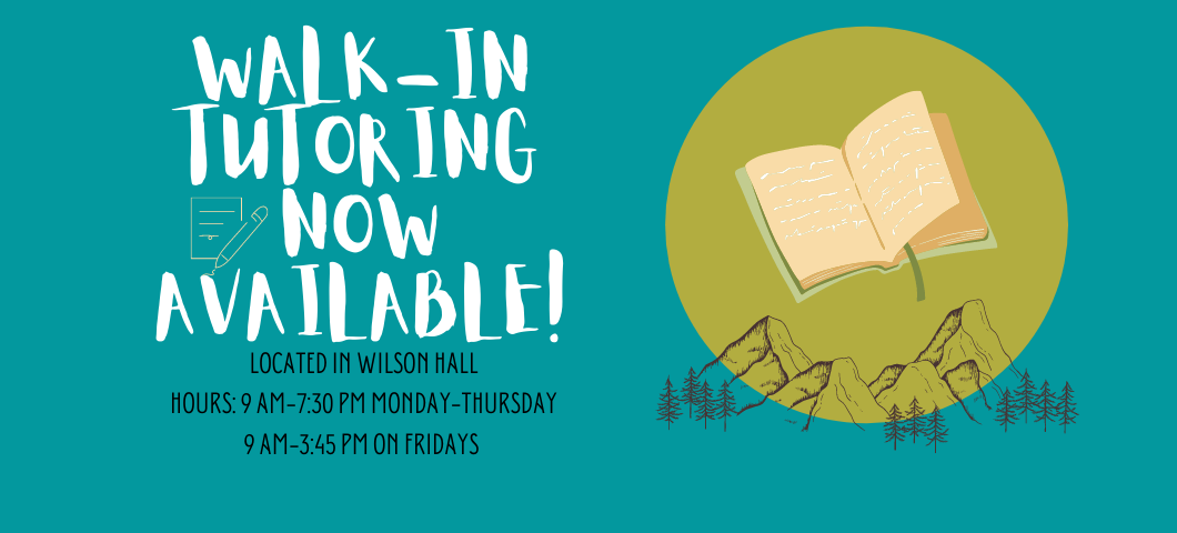 Walk-in tutoring now available!