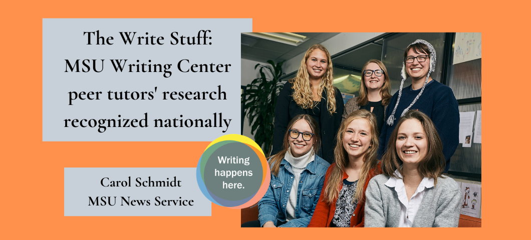 MSU Writing Center peer tutors' research recognized nationally