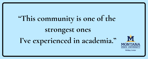 Quote: This community is one of the strongest ones I've experienced in academia.