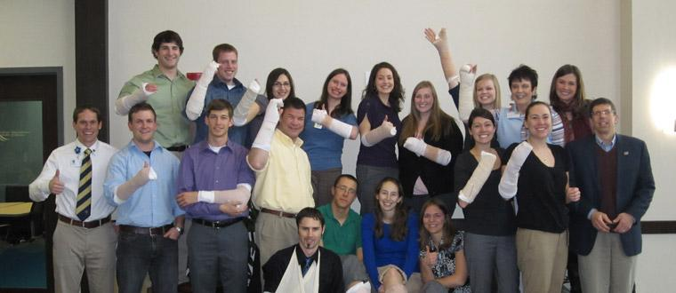 Dr. Zach Meyer and the Billings Residency Program put on their annual casting class for the E'10 WWAMI Students.