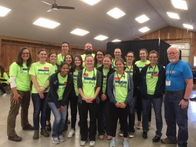 First, second, and third year WWAMI students participated in the free 2 day dental, vision and medical clinic at Gallatin County Fairgrounds in October 2018