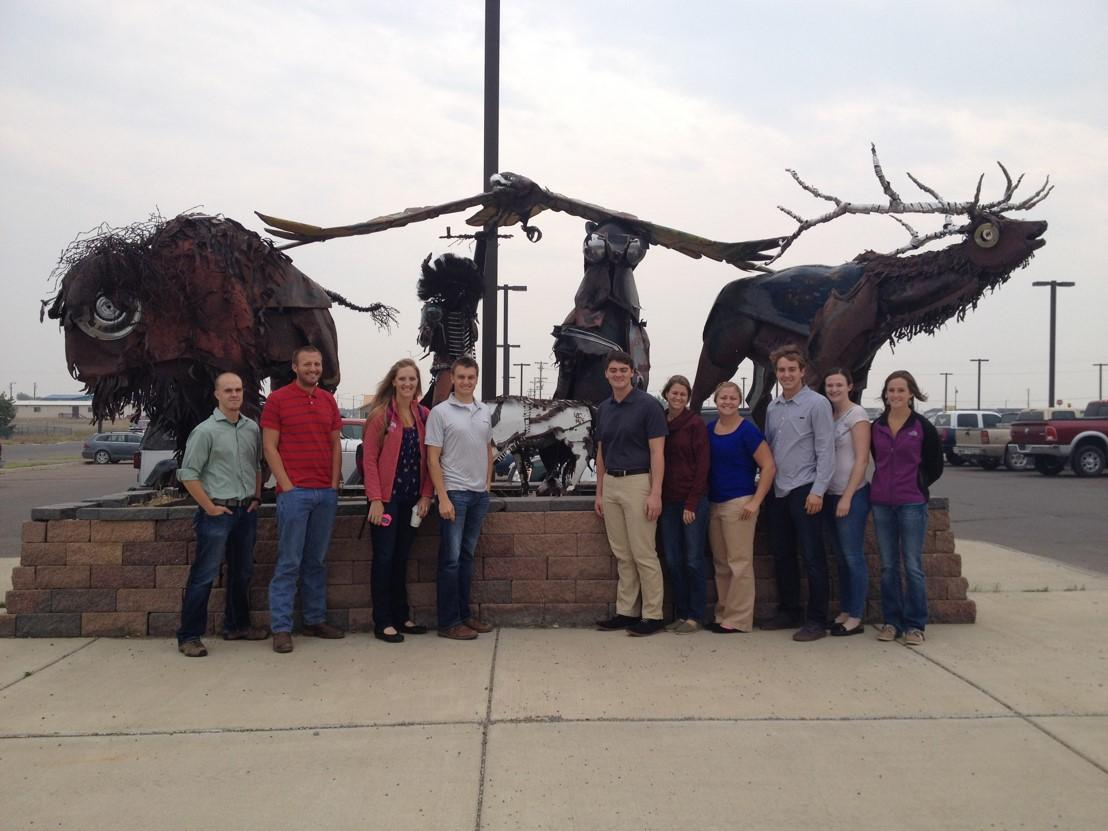 The E'15 TRUST Students in Browning for Montana Health Weekend