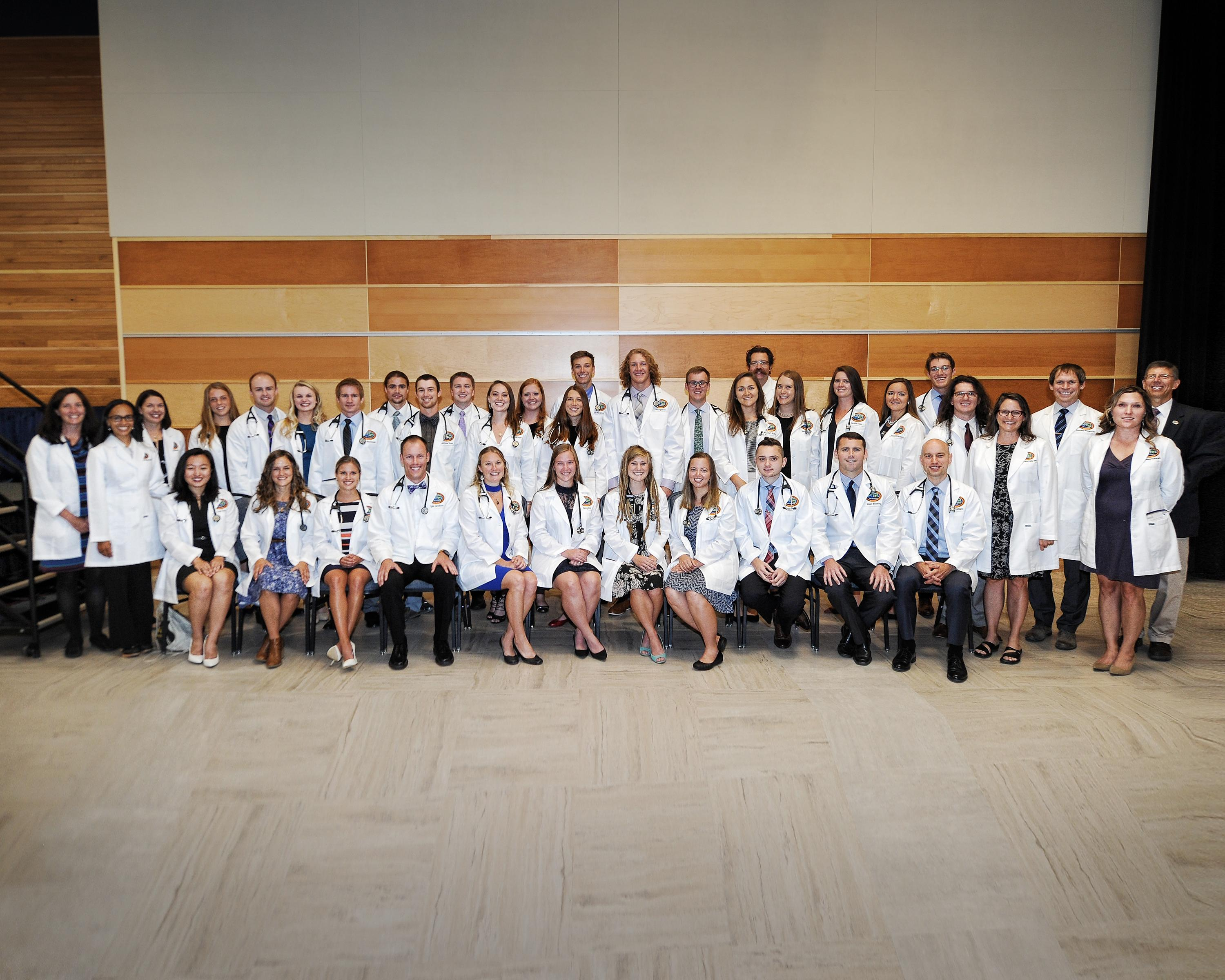 The E'17 Students were given White Coats to mark their transition into the Clinic on Friday, September 1st 2017